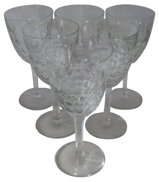Baccarat  Water  Goblets,  S/6