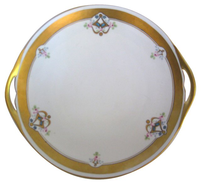 Hand-Painted Pickard Limoges Cake Plate