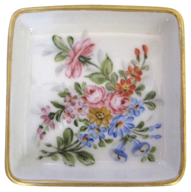 Hand-Painted Ginori Porcelain Tray