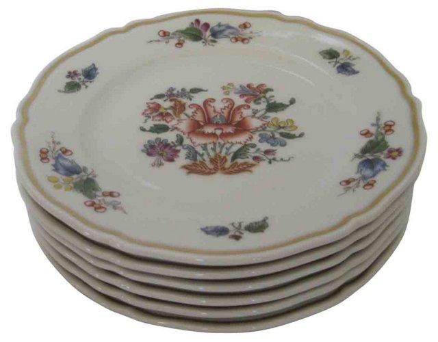 Ginori Porcelain Canapé Plates, S/6
