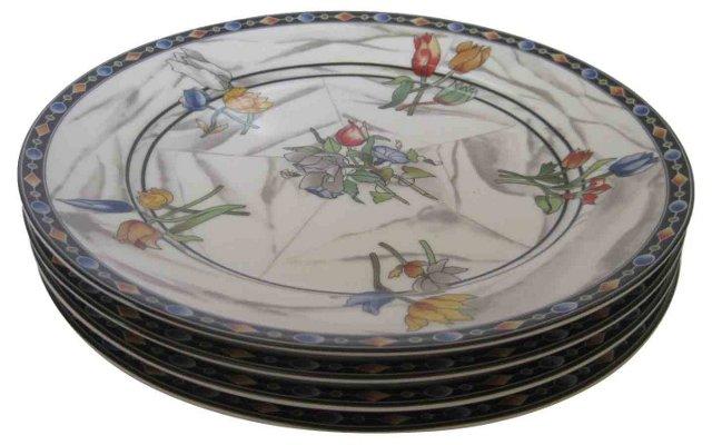 Taitu Porcelain Dinner Plates, S/4