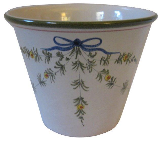 Hand-Painted Italian  Cachepot