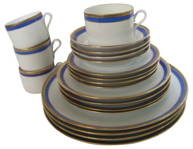 Ginori Porcelain Dinner Set, Svc. for 4