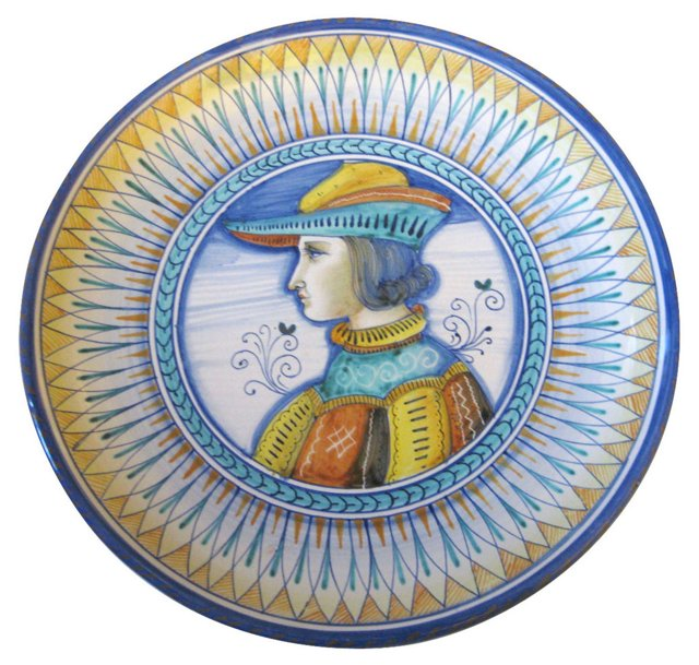 Italian Faience Portrait Plate