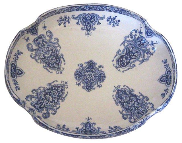Blue & White French Faïence    Bowl