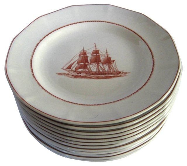 Wedgwood Flying Cloud Plates, S/12