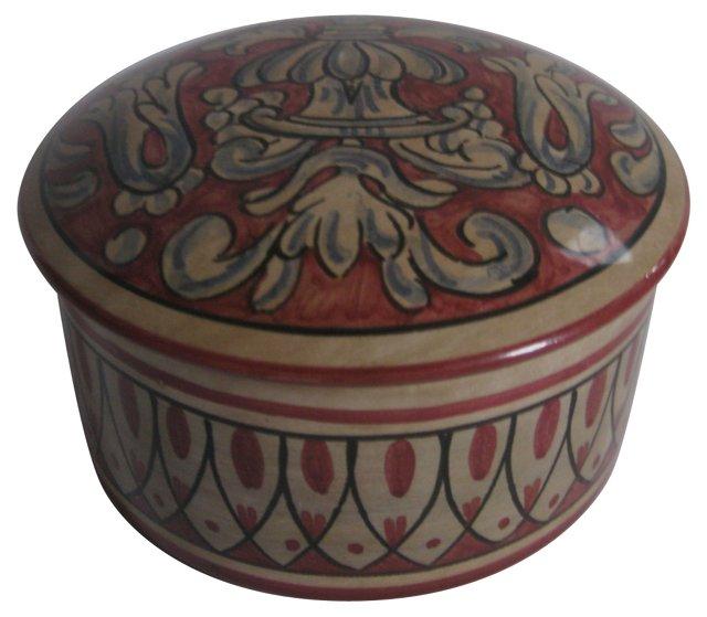 Hand-Painted Italian Faience Box