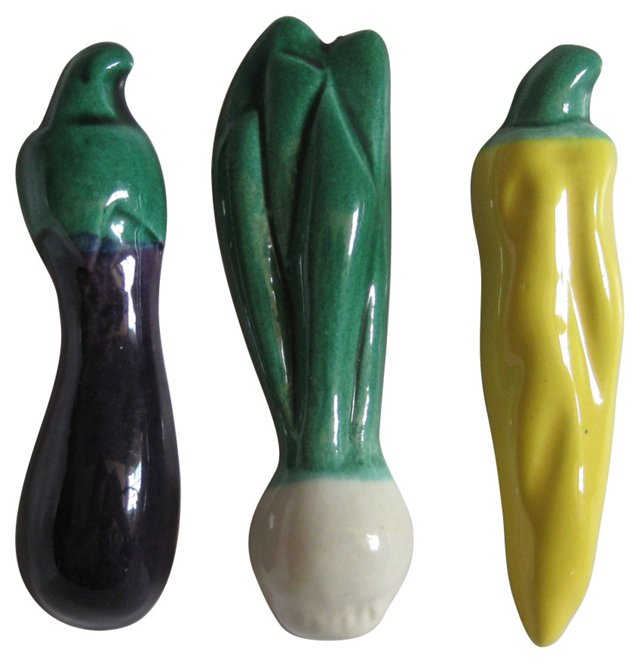 Vallauris French Knife Rests S/3