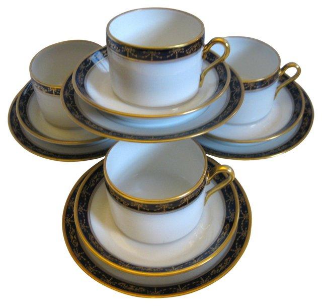 Ginori  Porcelain Dessert Service for 4