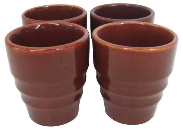 1930s Gladding McBean Redwood Tumblers