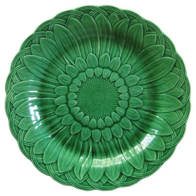 1877 Wedgwood Majolica Sunflower Plate