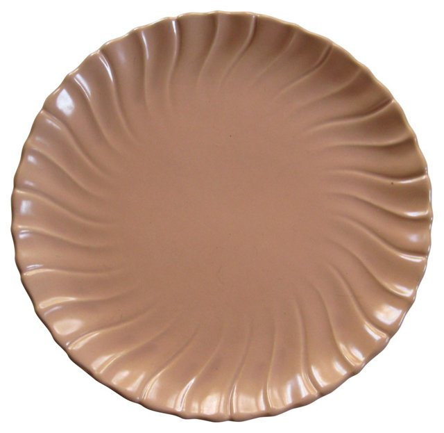 1940s Gladding McBean Pink Swirl Platter