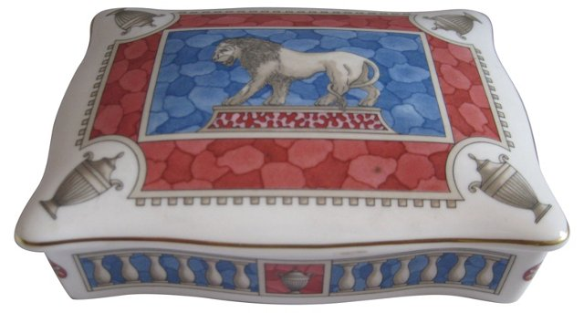Wedgwood Porcelain Lion Box