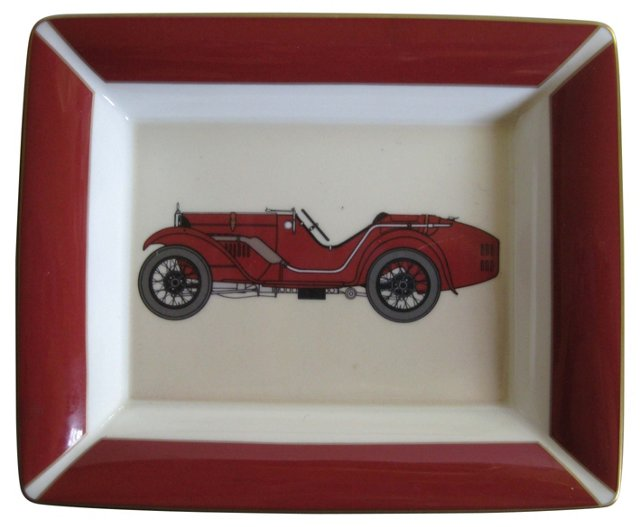 Red Roadster Porcelain Tray