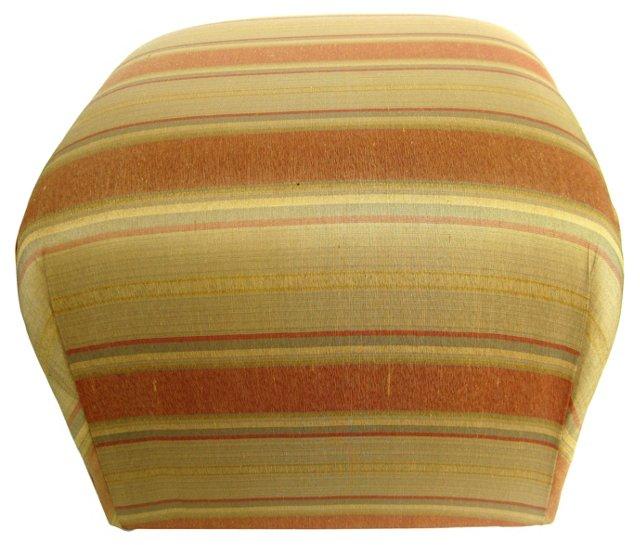 Striped Silk Ottoman