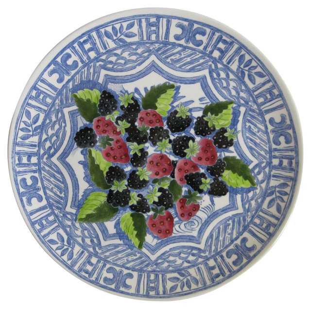 French  Faience  Berries  Platter