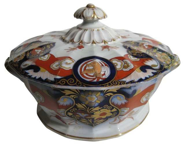 19th-C. English Ironstone Tureen