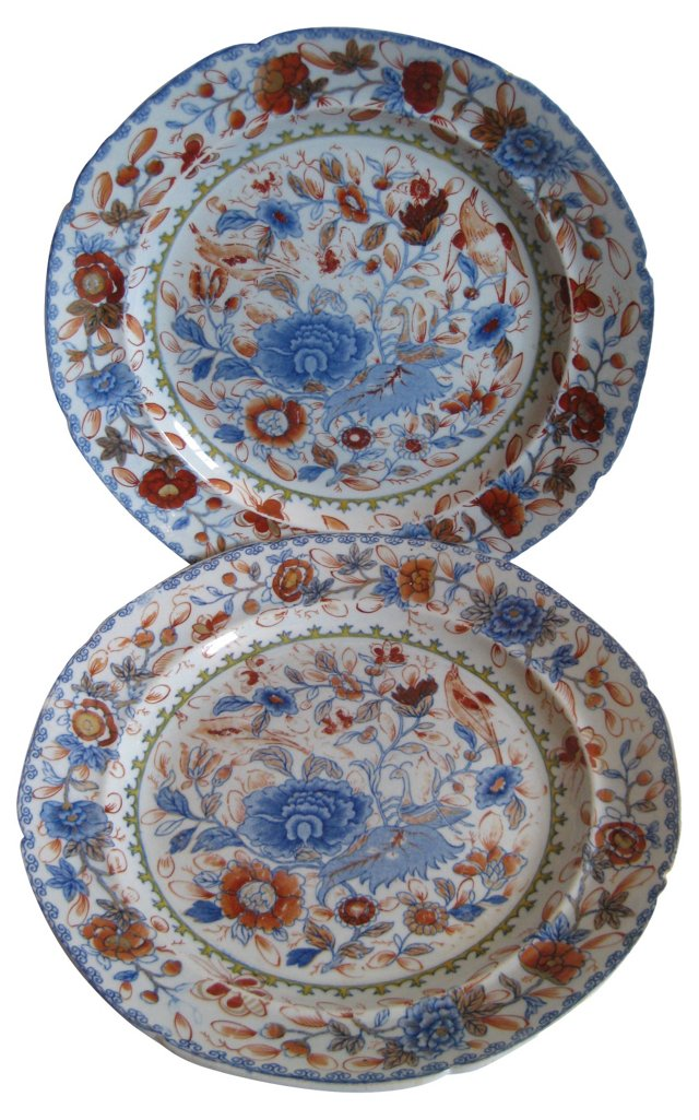 Early 1800s English Ironstone Plates
