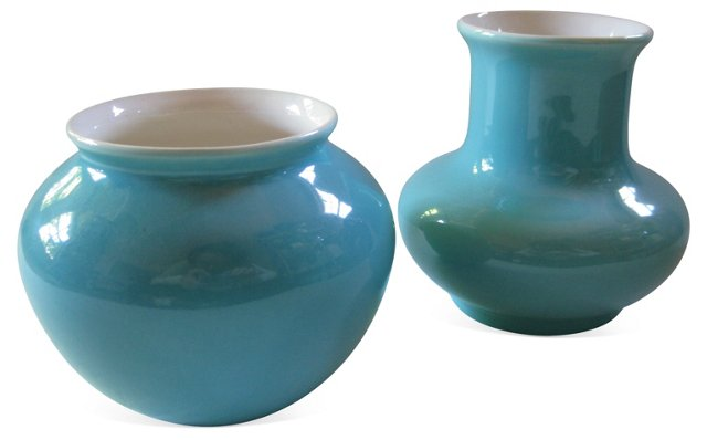 1930s Gladding McBean Vases, Pair