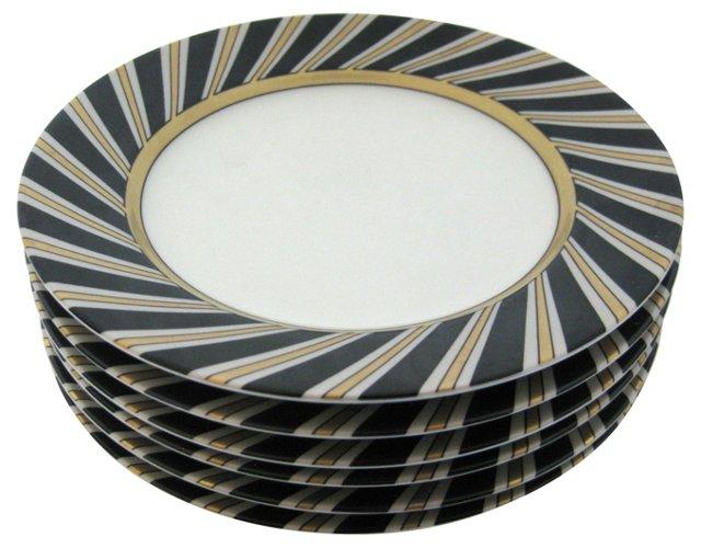 Porcelain Art Deco     Plates, S/6