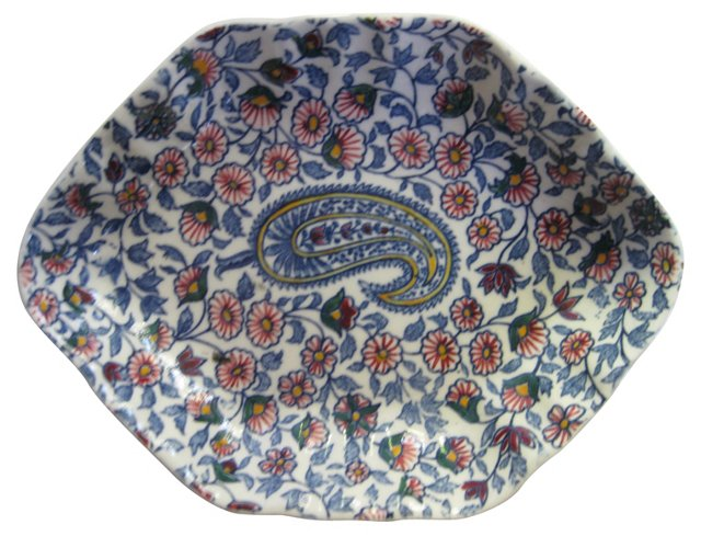 French Faience Paisley   Tray