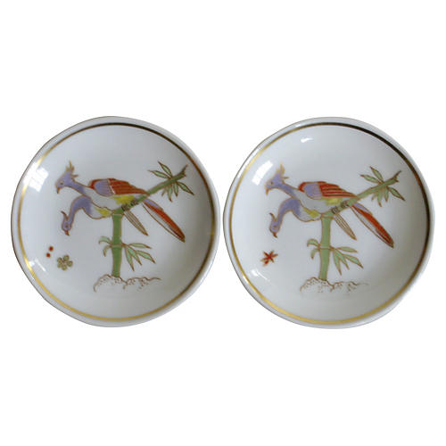 Ginori Italian Porcelain Bird Dishes, Pr