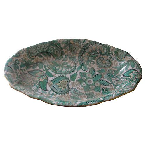 English Paisley Porcelain Tray