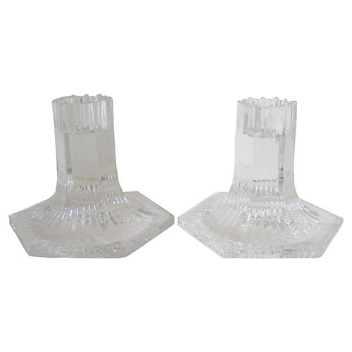 Tiffany & Co. Crystal Candlesticks w/Box