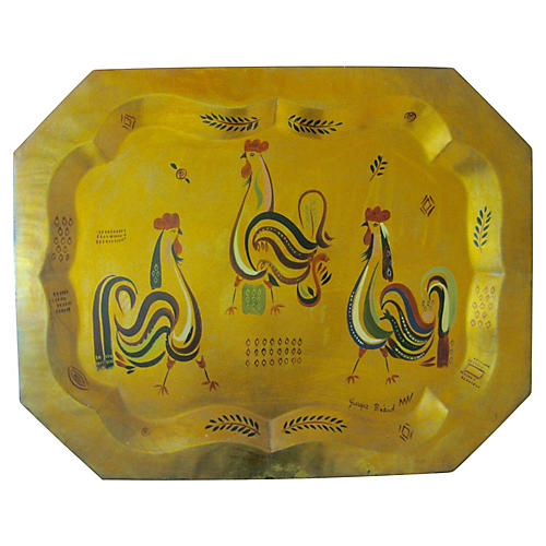 1950s Large Georges Briard Tray