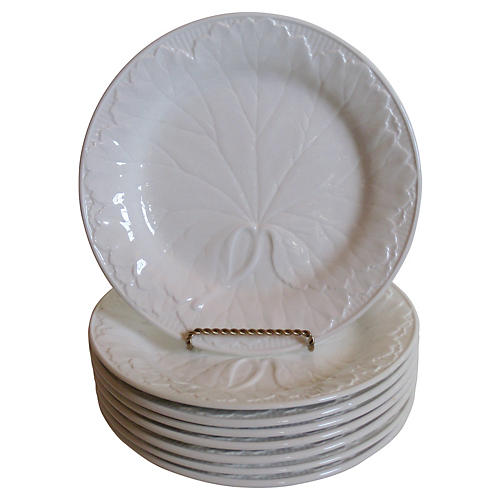 Wedgwood Majolica Plates, S/8
