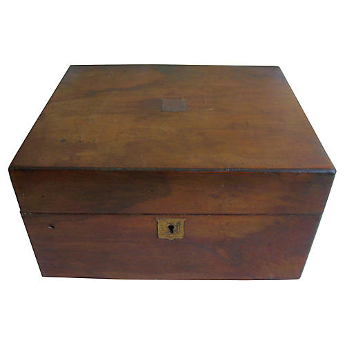 Antique English Writing Box Lap Desk