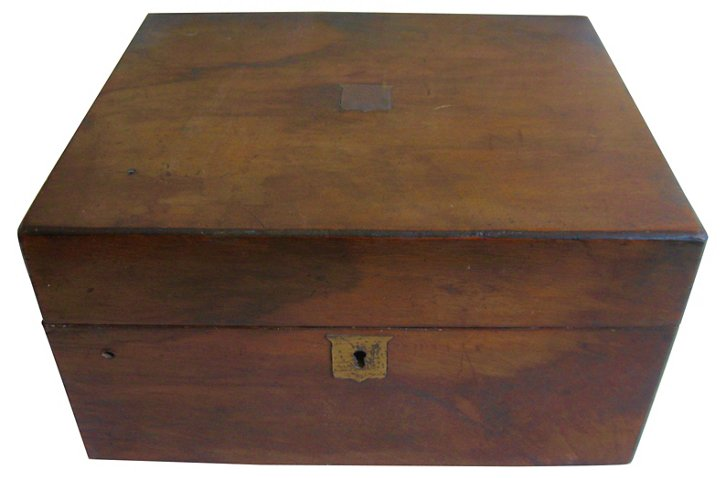 Antique English Writing Box Lap Desk - Decorative Objects - Decorative  Accents - Home Accents - Decor & Entertaining | One Kings Lane - Antique English Writing Box Lap Desk - Decorative Objects