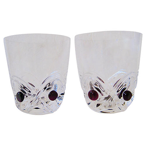 French Whiskey Glasses, Pair