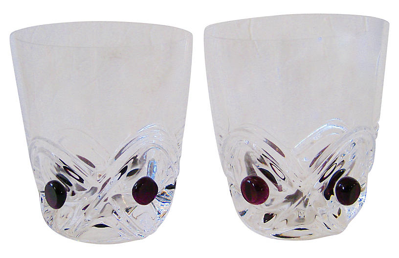 French Whiskey Glasses, Pair