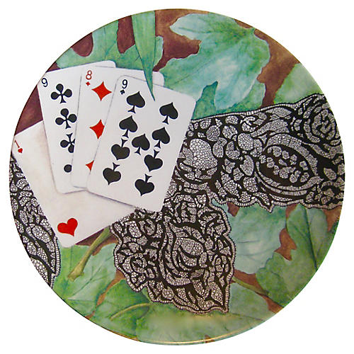 French Cards Plate