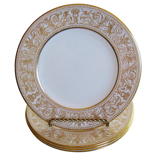 Wedgwood Florentine Plates, S/4