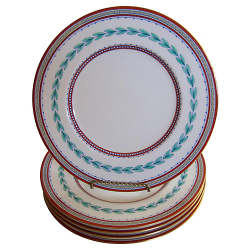 English Minton Porcelain Plates, S/5