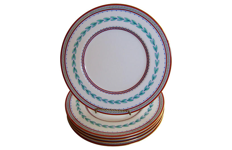 Minton English Porcelain Plates, S/5