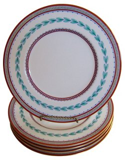 English Minton Porcelain Plates S/5 - Dessert Plates - Plates - Dinnerware - Tabletop - Decor u0026 Entertaining | One Kings Lane  sc 1 st  One Kings Lane & English Minton Porcelain Plates S/5 - Dessert Plates - Plates ...