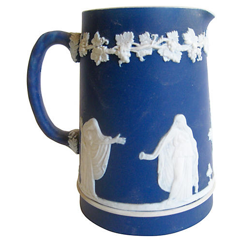 Early 1900s English Jasperware Pitcher