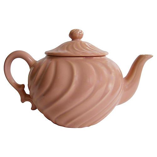1940s Gladding McBean Swirl Teapot