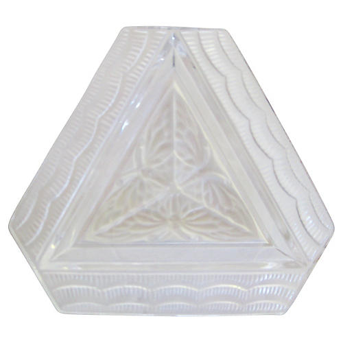 Lalique French Art Deco Crystal Tray