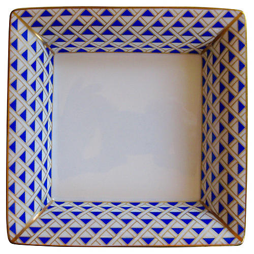 Ginori Italian Gilt Porcelain Tray