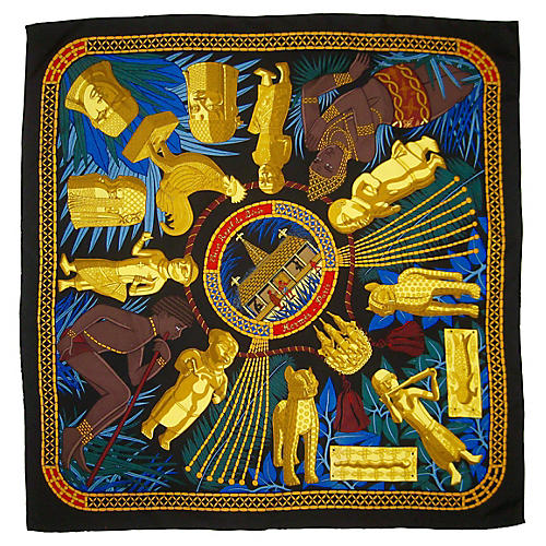 Hermès Tresor Royal du Benin Scarf