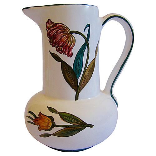 Deruta Italian Faience Pitcher