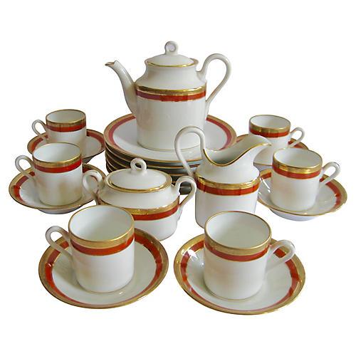 Ginori Porcelain Tea Set, Svc for 6