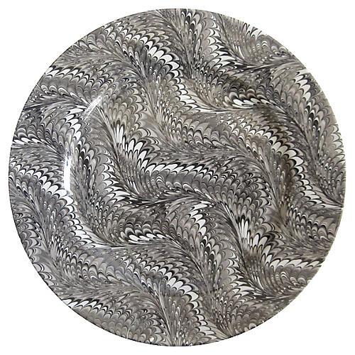 Feather-Glaze Porcelain Serving Plate