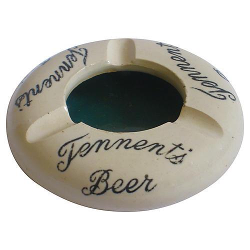 Tennent's Beer Scottish Pub Ashtray