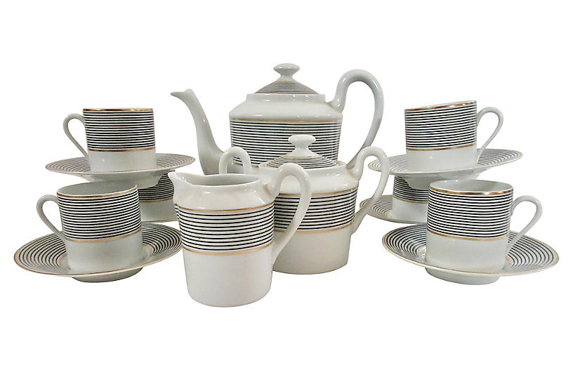 Limoges French Espresso Service for 6