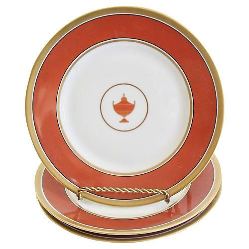 Ginori Italian Porcelain Urn Plates, S/3